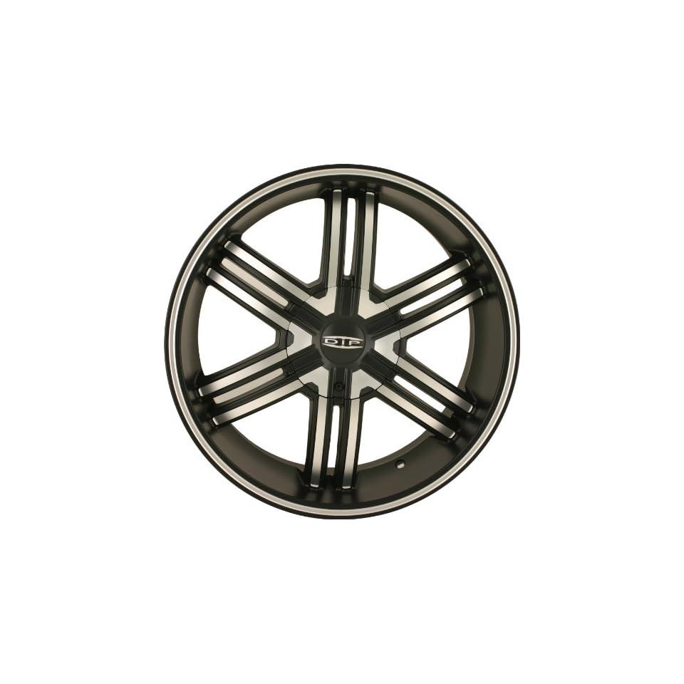 Dip Hack 22 Matte Black Wheel / Rim 5x5.5 & 6x5.5 with a 18mm Offset and a 108 Hub Bore. Partnumber D98 22995MB Automotive