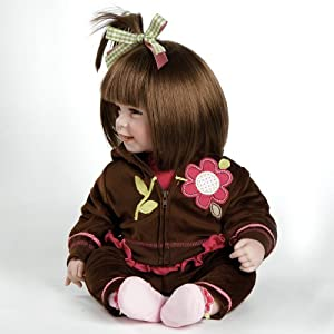 """Adora Toddler Cuddly & Weighted 20""""Play Doll -""""Workout Chic,"""" """"Removable Hoodie Jacket and Tennies Shoes"""" Brown Hair/Brown Eyes- Ages 6+"""