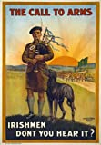 WA77 Vintage WWI Call To Arms Irish Ireland War Recruitment Poster WW1 Re-Print - A1 (841 x 610mm) 33