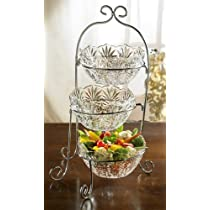 Fifth Avenue Crystal Portico 3-Tier Buffet Server