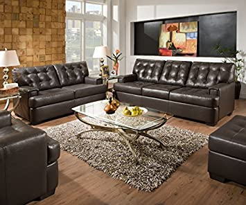 Simmons Upholstery 9590 Soho Bonded Leather Loveseat Espresso