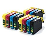 12pk Compatible Printer Ink Cartridges fit Epson Stylus SX445W