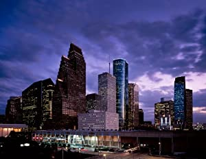 Photographs America Bewitching Twilight in Houston, Enchanting Photographic Print by Carol M. Highsmith