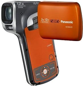 Panasonic HX-WA10EF-D Caméscope numérique vertical 16 Mpix Full HD Zoom optique 5x Étanche Orange/Gris