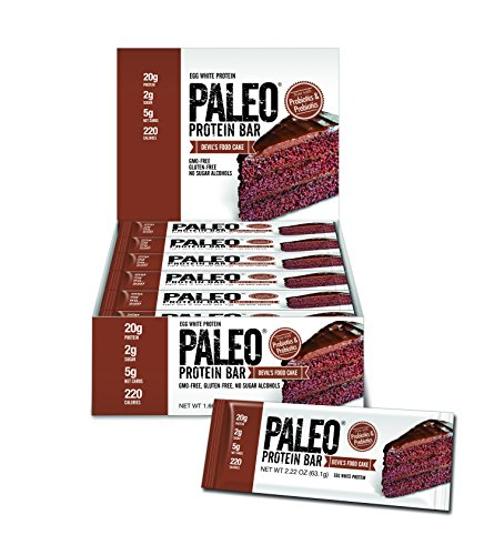 Paleo Protein Bar (Devils Food Cake) 12 Bars (20g Egg White Protein 5 Net Carbs) (Bakery Paleo Protein compare prices)
