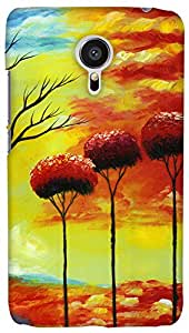 Print Haat Plastic Back Case for Meizu MX5 (Abstract-300)