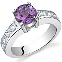 Simply Sophisticated 1.25 carats Amethyst Ring in Sterling Silver Size 9 Free Shipping