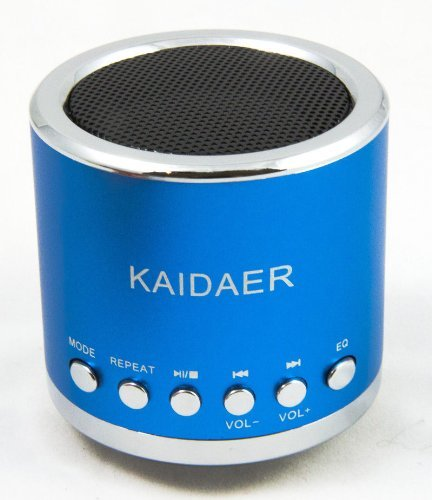 Kd-Mn02 Multi-Functional Super Mini Audio Speaker Amplifier With Tf/ Usb Slot For Pc Mobile Phone Mp3 Player Blue