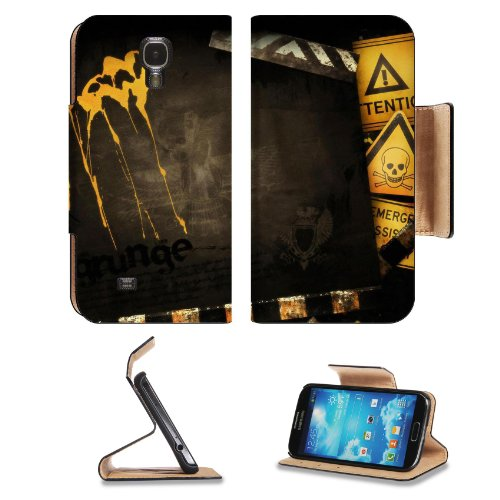 Creative Design Yellow Road Signs Samsung Galaxy S4 Flip Cover Case With Card Holder Customized Made To Order Support Ready Premium Deluxe Pu Leather 5 Inch (140Mm) X 3 1/4 Inch (80Mm) X 9/16 Inch (14Mm) Luxlady S Iv S 4 Professional Cases Accessories Ope front-1008721