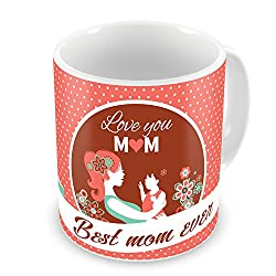 Gift for Mom Mothers Day Birthday Anniversary Light Baby and Mommy Love Care Red Best Quality Ceramic Mug Everyday Gifting