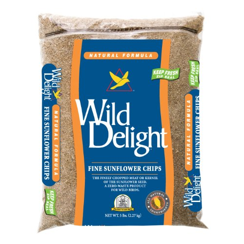 Wild Delight 385080 Natural Formula Fine Sunflower Chips, 5 Pounds