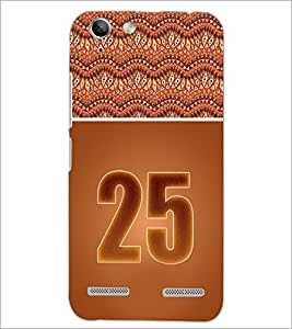PrintDhaba Numerology Number 25 D-3660 Back Case Cover for LENOVO A6020a46 (Multi-Coloured)