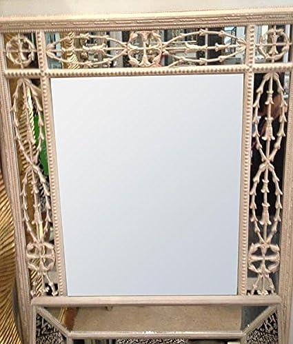 house cream frame vintage mirror