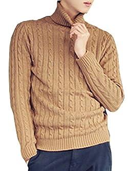(ネルロッソ) NERLosso セーター タートルネックセーター メンズ ニット メンズセーター 長袖 ニットセーター vネック ケーブル編み メンズスタイル クルーネック イエロー205 M cmw2464