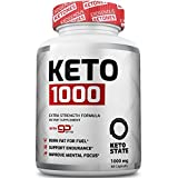 Keto Fat Burner 1000MG goBHB :: Patented goBHB Beta-Hydroxybutyrate :: Premium Keto Weight Loss Supplement :: Formulated to Burn Fat, Enter Perfect Ketosis, Enhance Mental Focus & Clarity :: 60 VCaps