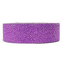 Wrapables Colorful Patterns Washi Masking Tape, Purple Shimmer