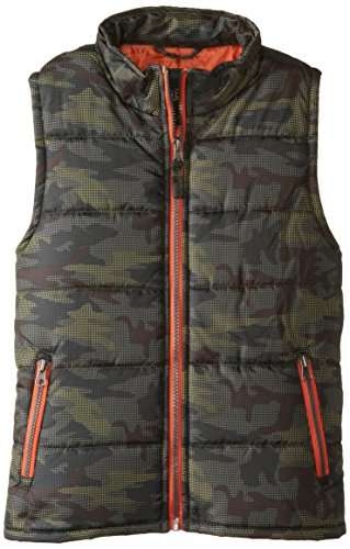 Ixtreme Big Boys' Camo Printed Vest, Olive, 8 back-964277