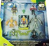 Ben 10 Alien Creation Chamber Figure Set 2 (Heatblast, Wildmutt, Four Arms, XLR8, Upgrade ...