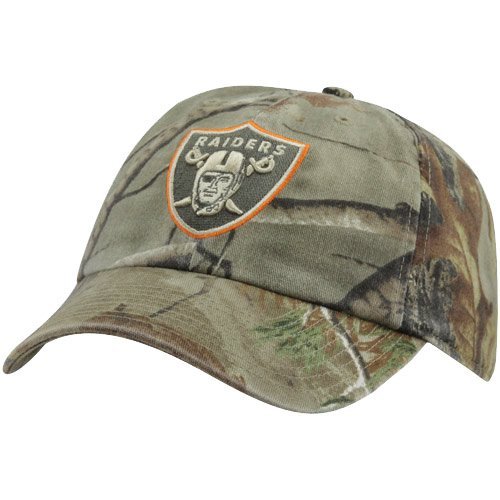 NFL '47 Brand Oakland Raiders Clean Up Adjustable Hat - Realtree Camo/Orange at Amazon.com