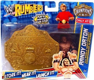 WWE Wrestling Rumblers Exclusive Randy Orton with World Heavyweight Championship Playcase - 1