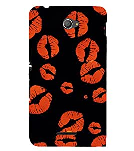 Kissing Lips 3D Hard Polycarbonate Designer Back Case Cover for Sony Xperia E4 Dual