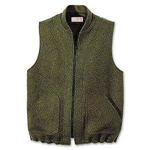 Filson Heavyweight Wool Vest-Liner - Forest Green