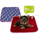 "16.5""x165"" Cute Pet Dog Cat Heating Blanket Pad Electric Warmer Bed Mat"