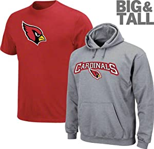 Arizona Cardinals Big & Tall Standard Set T-Shirt and Hooded Sweatshirt Combo... by VF
