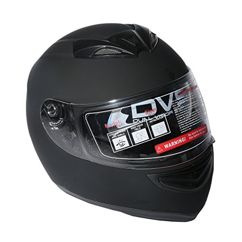 XFMT Dual Visor Matte Black Street Sport Bike Full Face Motorcycle Helmet XL