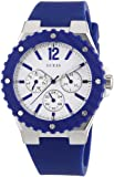 Guess W90084L3 - Reloj analógico de cuarzo para mujer con correa de silicona, color azul
