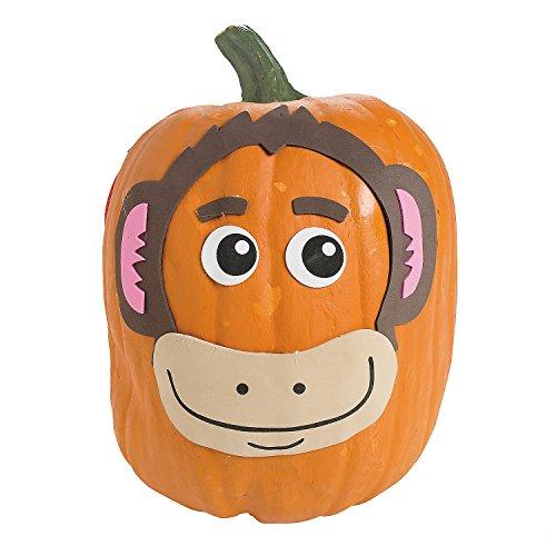 12-monkey Pumpkin Decorating Craft Kit