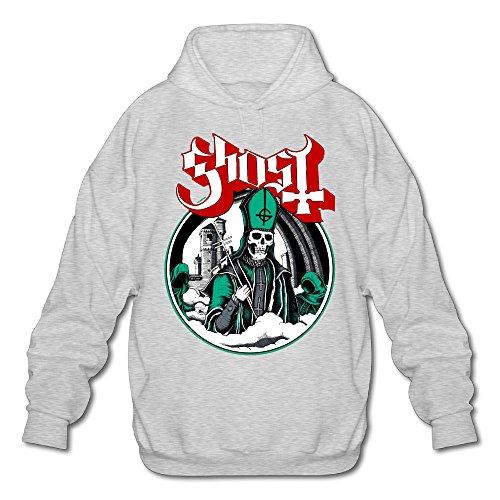 PHOEB Mens Sportswear Drawstring Hoodies Outwear Jacket,Ghost B.C. Ash XX-Large