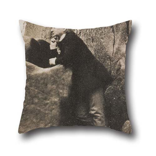 Pillowcase Of Oil Painting Charles Hugo - Victor Hugo On The Rock Of The Exiles 20 X 20 Inch / 50 By 50 Cm,best Fit For Bedding,wife,family,couples,play Room,car Seat Two Sides