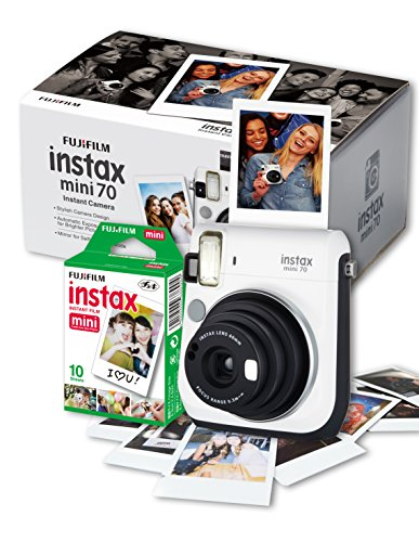 Fujifilm Instax Mini 70 Camera with 10 Shots - White