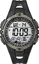 Timex Ironman Unisex Digital Watch with LCD Dial Digital Display and Black Resin Strap - T5K802