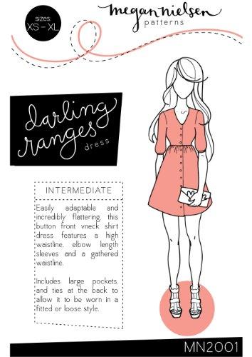 Megan Nielsen Darling Ranges Dress Sewing Pattern XS-XL