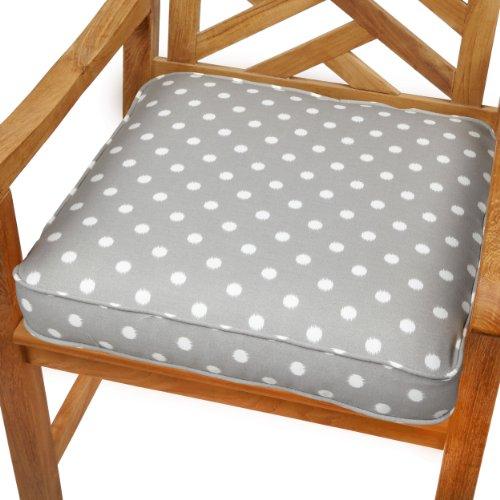 Mozaic Sabrina Corded IndoorOutdoor Chair Cushion 19 Inch Grey Dots Bestselle
