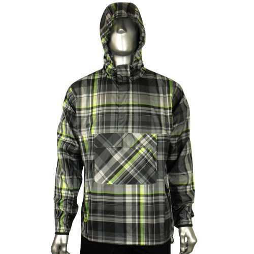 Mens Nike Plaid Wind Jammer Jacket Rain Retro Running Training Coat Size S M