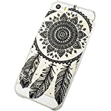 Jinhoo(TM) Plastic Dream Cathcher Campanula Black Floral Paisley Henna Tribal Pattern Flower Case&Cover for Apple Iphone5/5S (Black Feather Campanula)