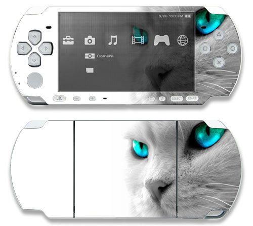 Cool Cat Decorative Protector Skin Decal Sticker for Sony Playstation PSP 1000 Portable System