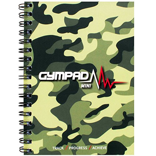 GymPad Mini Workout Journal - The Small Stylish Way To Track Your Workouts (Camo)