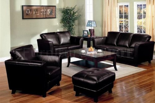 Picture of AtHomeMart 3 PCs Dark Brown Bicast Leather Contemporary Design Sofa, Loveseat, and Chair Set (COAS501231-232-233) (Sofas & Loveseats)