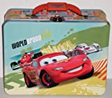 Cars 2 Lightning McQueen World Grand Prix Embossed Metal Lunch Box/ Carry-All