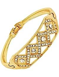 Bling N Beads Gold Designer Sleek Bracelet Friendship Birthday Rakhi Gift For Her