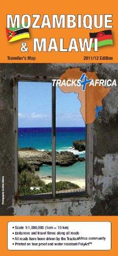 Mozambique & Malawi GPS-Tracks Karte 1 : 1 000 000