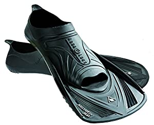 Aqua Sphere Micro HP Swim Training Fins - Black/Black, Size 32 - 33