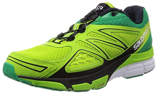 Salomon - X-Scream 3D, Sneakers da uomo, verde (granny green/real green/white), 45 1/3