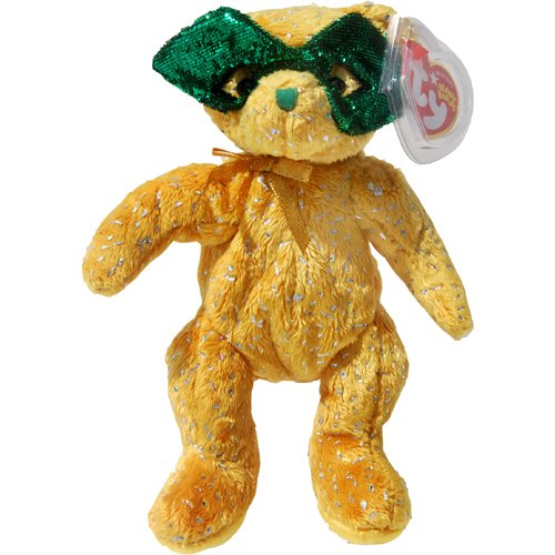 1 X MASQUE the Mardi Gras Bear (Internet Exclusive) Teddy Bear - Ty Beanie Babies