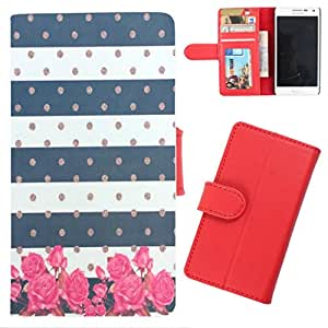 DooDa - For Gionee M2 PU Leather Designer Fashionable Fancy Wallet Flip Case Cover Pouch With Card, ID & Cash Slots And Smooth Inner Velvet With Strong Magnetic Lock