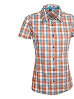 SALEWA Camisa Mujer Renon 2.0 Dry W (Naranja / Turquesa)